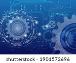 abstract techno gear background ... | Shutterstock .eps vector #1901572696