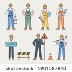 worker character at... | Shutterstock .eps vector #1901587810