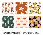seamless hand drawn abstract...   Shutterstock .eps vector #1901590453
