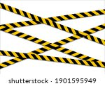 set of warning tapes isolated...   Shutterstock .eps vector #1901595949