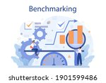 benchmarking concept. idea of... | Shutterstock .eps vector #1901599486