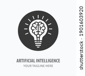 artificial intelligence icon.... | Shutterstock .eps vector #1901603920