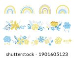 spring floral rainbow clipart... | Shutterstock .eps vector #1901605123