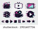 cinema icons set. vector signs...