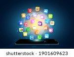 application on mobile ... | Shutterstock .eps vector #1901609623