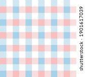vichy pattern spring in pastel... | Shutterstock .eps vector #1901617039
