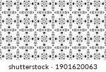 ornament with elements of black ... | Shutterstock . vector #1901620063