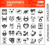 valentine day solid icon set ... | Shutterstock .eps vector #1901621509