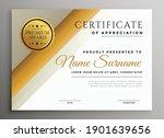 modern diploma certificate... | Shutterstock .eps vector #1901639656