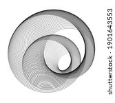 lines in circle form . spiral...   Shutterstock .eps vector #1901643553