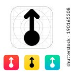 scroll up gesture abstract icon....