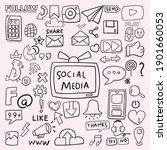 social media and website doodle ... | Shutterstock .eps vector #1901660053