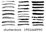 grunge brushes set.vector... | Shutterstock .eps vector #1901668990