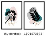 set two of black line art of... | Shutterstock .eps vector #1901673973