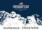 president's day background... | Shutterstock .eps vector #1901676946