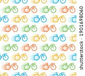 speed bicycle colorful dynamic...   Shutterstock .eps vector #1901698060