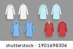 doctor coat in different colors ...   Shutterstock .eps vector #1901698306