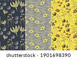 abstract flower and leaf... | Shutterstock .eps vector #1901698390