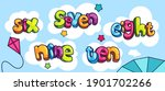 set of colored words of numbers ... | Shutterstock .eps vector #1901702266