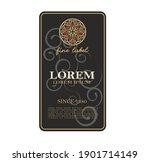 wine label italian food and... | Shutterstock .eps vector #1901714149