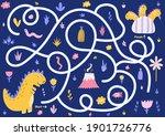 maze puzzle for kids. help... | Shutterstock .eps vector #1901726776