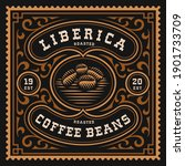 a vintage coffee label  this... | Shutterstock .eps vector #1901733709