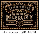 a honey label in retro style ... | Shutterstock .eps vector #1901733733