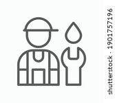 plumber icon  mechanic vector ... | Shutterstock .eps vector #1901757196