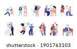 family stages. happy children ... | Shutterstock .eps vector #1901763103