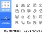line icons about online...   Shutterstock .eps vector #1901764066