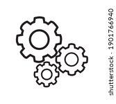 process icon vector line  gear...   Shutterstock .eps vector #1901766940