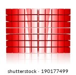 abstract 3d cubes background in ... | Shutterstock .eps vector #190177499
