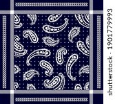 vector pattern with paisley... | Shutterstock .eps vector #1901779993