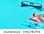 banknote of 100 usd  glasses ... | Shutterstock . vector #1901781976