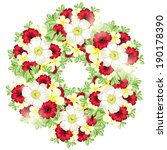 abstract flower background with ... | Shutterstock .eps vector #190178390