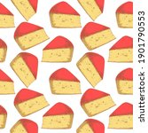 Seamless Pattern With Gouda...