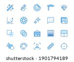 photo edit line icon set. image ...