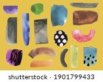 vector set with paper cut...   Shutterstock .eps vector #1901799433