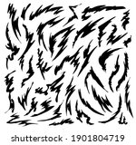 dynamic shapes  hand drawn... | Shutterstock .eps vector #1901804719