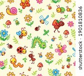 vector seamless pattern with... | Shutterstock .eps vector #1901810836