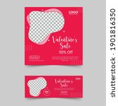 valentine's day special social... | Shutterstock .eps vector #1901816350