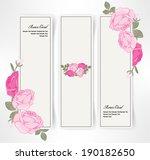 vintage vector  banner of pink... | Shutterstock .eps vector #190182650