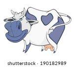 blue cow. cartoon    Shutterstock .eps vector #190182989