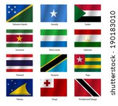 set  flags of world sovereign... | Shutterstock . vector #190183010