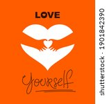 heart and hands hugging love... | Shutterstock .eps vector #1901842390