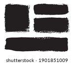 black grunge banners.dirty... | Shutterstock .eps vector #1901851009