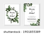 save the date wedding invite... | Shutterstock .eps vector #1901855389