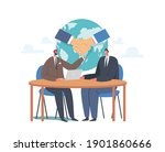 partnership concept  delegates... | Shutterstock .eps vector #1901860666