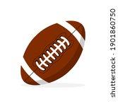 american football ball vector... | Shutterstock .eps vector #1901860750