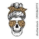 female skull with aviator... | Shutterstock .eps vector #1901862973
